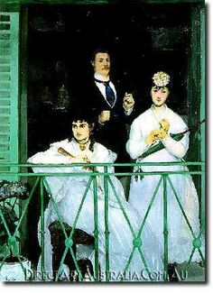 Manet   The Balcony - Direct Art Australia,  Price: $199.00,  Availability: Delivery 10 - 14 days,  Shipping: Free Shipping,  Minimum Size: 50 x 60 cm,  Maximum Size : 100 x 150 cm,  100% Hand Painted Oil Paintings on Canvas!  www.directartaustralia.com.au/