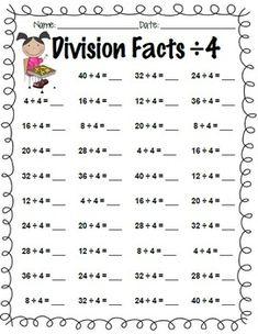 math worksheet : division fact worksheets 1  math  pinterest  division  : Division Math Facts Worksheet