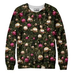 Christmas Tree Sweatshirt [its different but would look so great with a leather skirt]