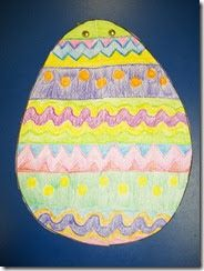 We don't get to do a whole lot of Easter in class because our Spring Break always falls the week before Easter. (I think they do it so they ...