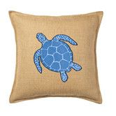 Found it at Wayfair - Turtle Applique on Washed Cotton Throw Pillow