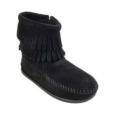 Classic Fluff Pin Charcoal Suede Twinface Boots