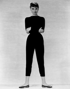 Hepburn remained slim. (Getty Images)