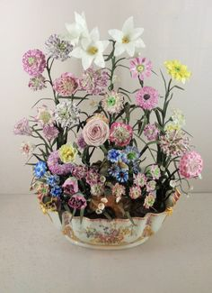 Beautiful porcelain flowers from Sevres