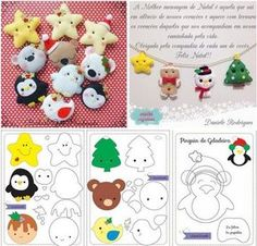 - - Paper Crafts To Sell Gift Bags - Holiday Crafts To Sell Homemade Gifts - Crafts For Kids Videos To Make Unicorn Kids Crafts, Toddler Crafts, Felt Crafts, Easy Crafts, Paper Crafts, Felt Christmas Decorations, Felt Christmas Ornaments, Christmas Crafts, Homemade Christmas