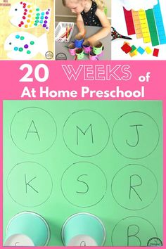 Simple homeschool preschool lesson plans made for moms using things you already have around the house.