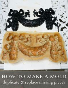 How to make a latex mold to duplicate missing pieces— if you need to match a claw foot, missing plaster, anything!— See the MASSIVE garden urn before & after!
