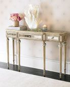 Shop Dresden Mirrored Console at Horchow, where you'll find new lower shipping on hundreds of home furnishings and gifts. Glass Furniture, Mirrored Furniture, Home Decor Furniture, Home Furnishings, Furniture Sets, Furniture Design, Cream Furniture, Royal Furniture, Furniture Storage