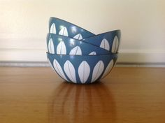 CathrineHolm Lotus Enamel Bowl Turquoise Blue by TheWelcomeTable, $85.00