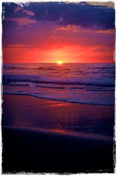 The beautiful sunrise at Assateague Island. Awesome camping spot. :)