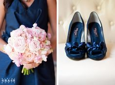 Navy and Pink Barn Wedding at The Reid Barn in Georgia | Audrey Grace Photography