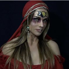Moon goddess , gypsy , fortune teller , pirate , wench , Halloween makeup