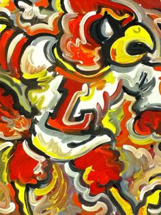 University+of+Louisville+Painting+by+Justin+Patten+by+stormstriker,+$110.00