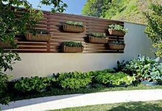 Beautiful Minimalist Vertical Garden For Your Home Backyard goodsgn com 08 Back Gardens, Small Gardens, Outdoor Gardens, Outdoor Sheds, Walled Garden, Terrace Garden, Minimalist Garden, Fence Design, Garden Projects