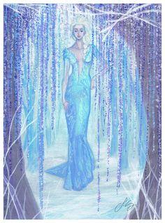 Elsa - Frozen, fanart by me https://www.facebook.com/silviagalassodrawings http://silviagalasso.deviantart.com/gallery/   #fashiondesign #fashionstyling #frozen #elsa #silviagalasso #animation #cartoon #model