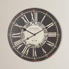 "One Allium Way Oversized 23.25"" Hotel Wall Clock & Reviews | Wayfair"