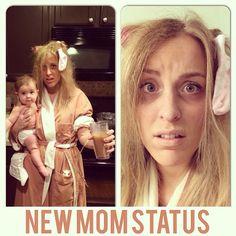 My tired mom costume haha #costume #halloween #tiredmom #mom #momcostume #newmom