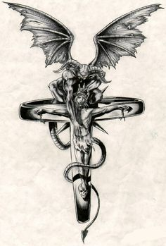 #jesus #devil #cross