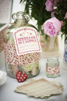 Alternative Guest Books - Messages in a bottle