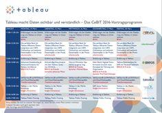 Das Vortragsprogramm von Tableau auf der CeBIT 2016