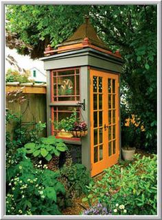 Asian inspired potting shed