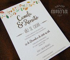 Convite de casamento papel semente