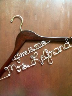 Personalized Two-Tier Wedding Dress Hanger...Great gift on Etsy, $18.95