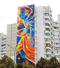 Another amazing mural by @dourone - this time in Kiev.  http://globalstreetart.com/dourone  #globalstreetart #dourone #mural #wallart #streetart #streetarteverywhere #kiev #ukraine
