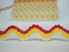 5 yards Cream-Bright Yellow-Hot Pink Multicolored by ichimylove