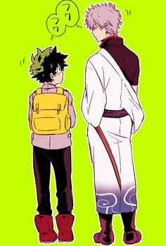 Boku no Hero Academia x Gintama || Cross-Over [ Midoriya Izuku, Gintoki Sakata. ]