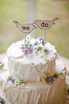 Just put a bird on it! Or two! WHOEVER PINNED THIS FIRST- ALL OF MY YES GOES TO YOU<3!!!!! not only portlandia but hands down one of the cutest wedding cakes I've ever seen!!!