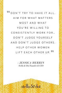 Happy International Women's Day! Let's spend more time lifting others up! Thanks for always inspiring me Jessica Herrin. #sdstyle