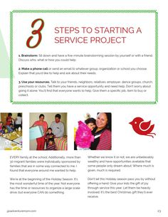 3 steps to start a service project ISSUU - Go Adventure Magazine by Go Adventure Magazine http://www.goadventuremom.com/magazine #goadventure #outdoorfamilies