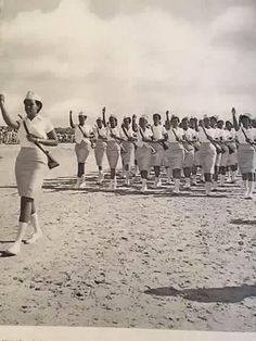 Vibtage photo of Somali female soldiers