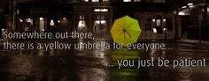 Yellow umbrella from How I Met Your Mother