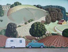 "History of Art: Grant Wood.                         ""Young Corn"""