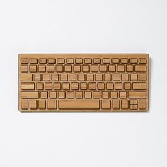 Wireless Bamboo Keyboard, Black