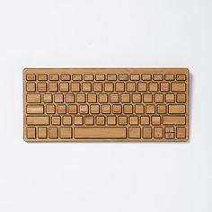 Wireless Bamboo Keyboard, Black