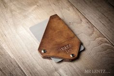 Mr Lentz – Whip Card Wallet The Whip Card Wallet from Mr Lentz is a minimal wallet designed for your front pocket. It will hold your cards and some notes all secure in hand cut top-grain vegetable tanned leather. $44 (£26) www.mrlentz.com