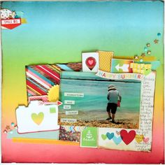 Happy Summer scrapbook layout by Jen Naulls for Hey Little Magpie using Simple Stories 'Good Day Sunshine'