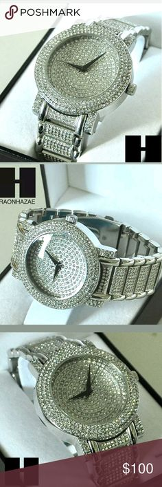 """MENS SILVER FINISHED LAB DIAMOND WATCH NEW HIP HOP ICED OUT FULLY STONE TECHNO PAVE  WATCH #TP7805S  Brand New Techno Pave Watch  Watch Diameter 1.80""""  High Polished  8.5"""" Metal Band (Adjustable)  Polished Stainless Steel Case  Japan Movt Quartz  Water Resistant Accessories Jewelry"""