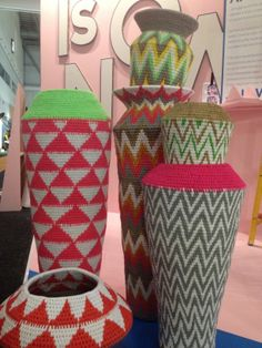 Fluro vases designed by Philippa Thorne for Gone Rural, as seen at Design Indaba, Cape Town 2014
