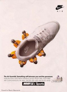 1993 ad for Nike sneakers for women