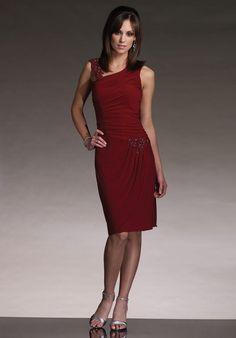 Exclusive Design Neckline Column Ruched Beading Taffeta Mother of Groom Dresses ,Mother of Bride Dresses,