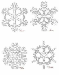 FREE DIAGRAMS ~ Crochet snowflakes ~
