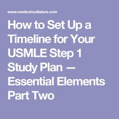 Mastering mnemonics sorting out those damn signaling pathways for how to set up a timeline for your usmle step 1 study plan essential elements fandeluxe Choice Image