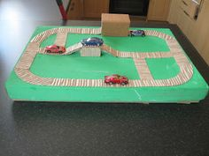 Corrugated Card Road with bridge and tunnel