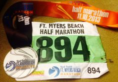I run to add medals and race bibs to my collection. Ft. Myers half marathon 11/10/13