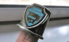 Vintage Pewter Alabama State Thimble