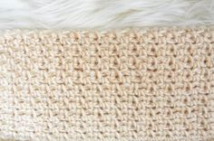 When I made my Mod Mesh Honey Crocheted Blanket Sweater, I wanted to use a veryeasy mesh pattern. I found the crocheted diamond mesh stitch online, but I was going for something a little different and simple as can be. If anyone knows if there is a name for this particular mesh that I'm sharing with you today, I'd love to know! I played around with simply chaining and slip stitching to make this pattern.If you know how to chain, slip stitch and single crochet, this will be a breez...